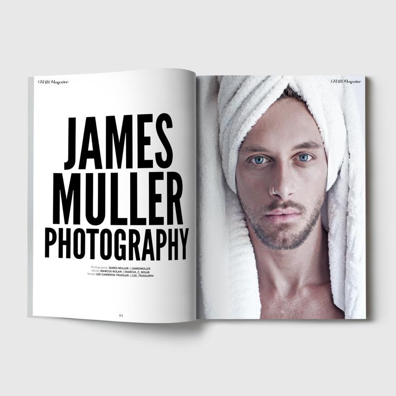 Fashion editorial portrait for Gmaro magazine by Farnham, Surrey based photographer James Muller