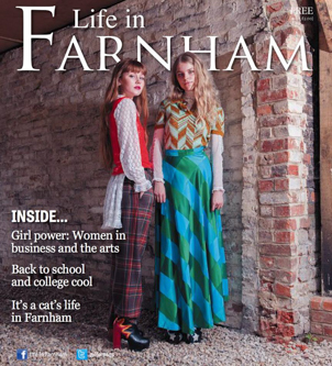 Life in Farnham front cover by Surrey based portrait and fashion photographer James Muller