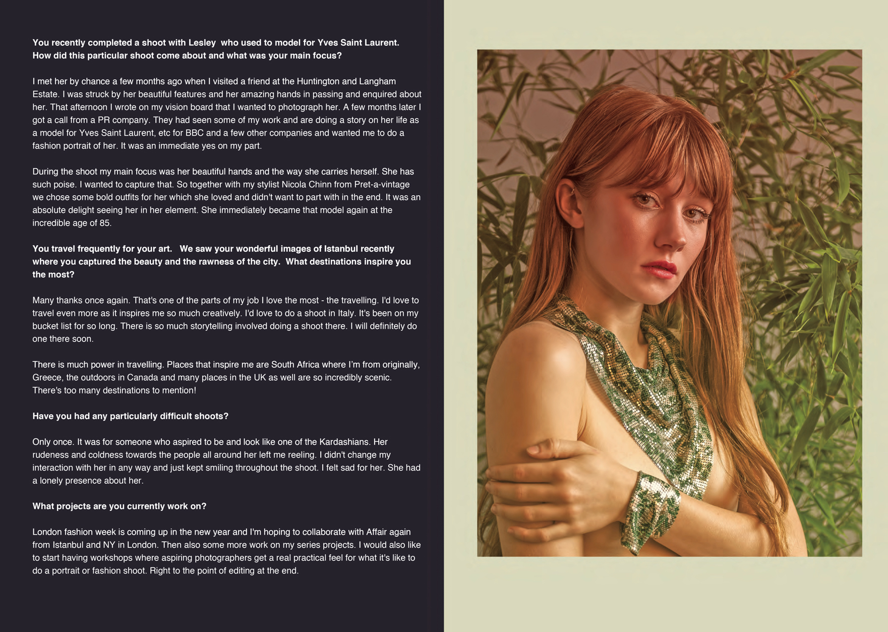 Interview for The Flux Review Magazine with Farnham, Surrey based portrait and fashion photographer James Muller