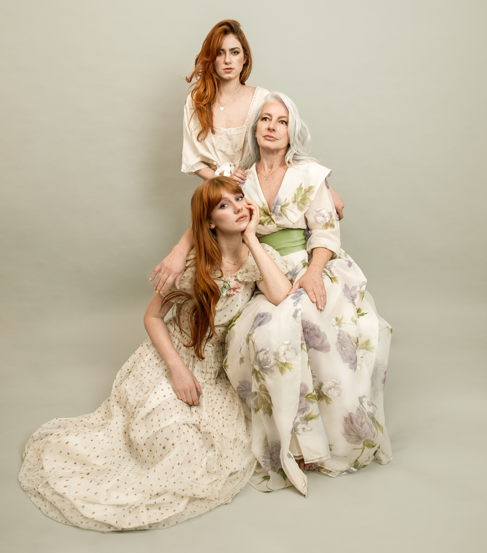 Mother and daughters fashion editorial by Farnham, Surrey based portrait photographer James Muller