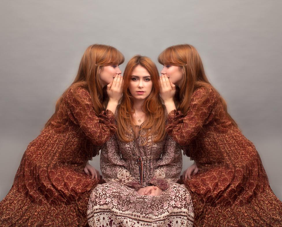 Whispers. Fine art portrait by Farnham, Surrey based fashion photographer James Muller