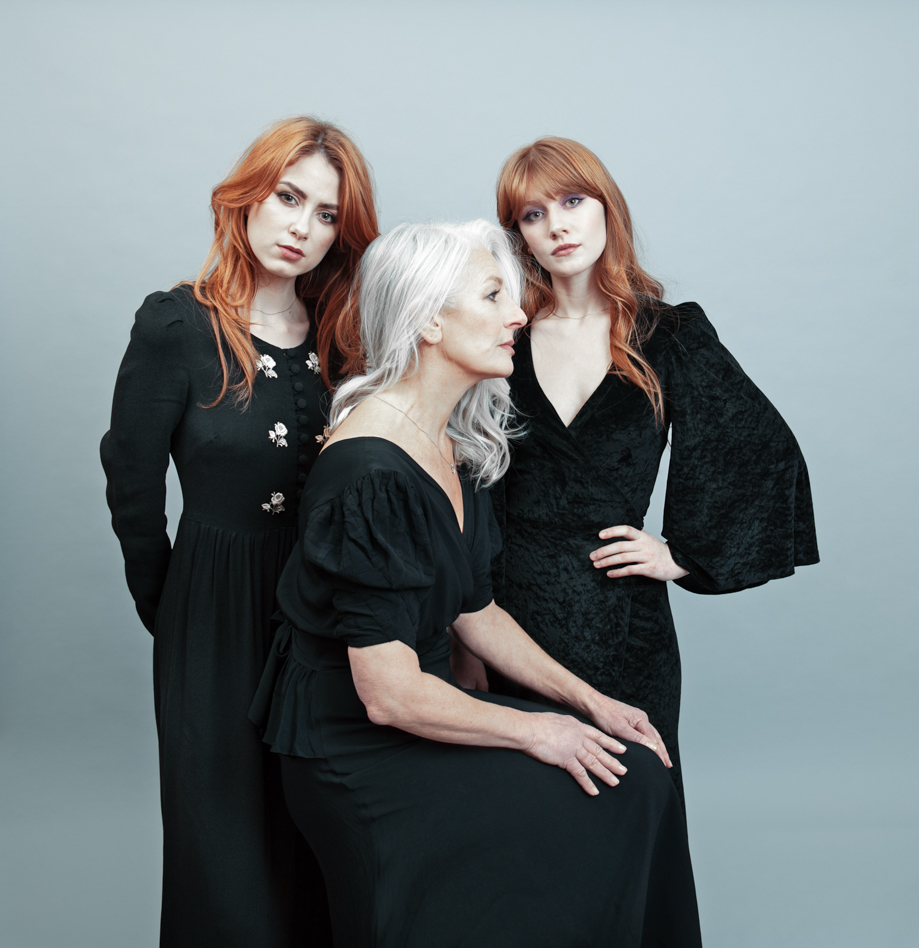 Just the three of us. Models in black for Vogue Italia by Farnham, Surrey based portrait and fashion photographer James Muller