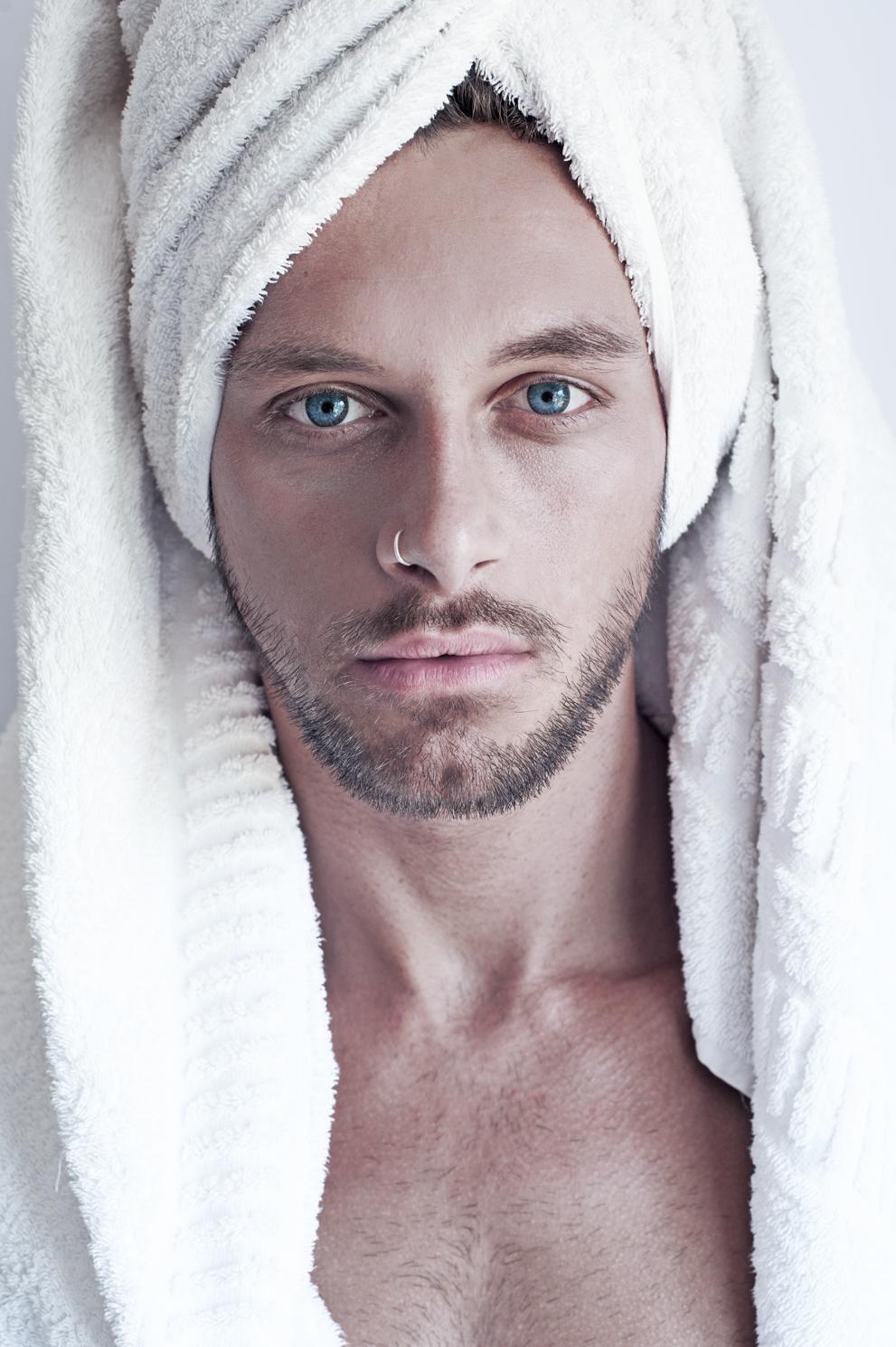 Blue eyes. Fine art photography by Farnham, Surrey based portrait and fashion photographer James Muller