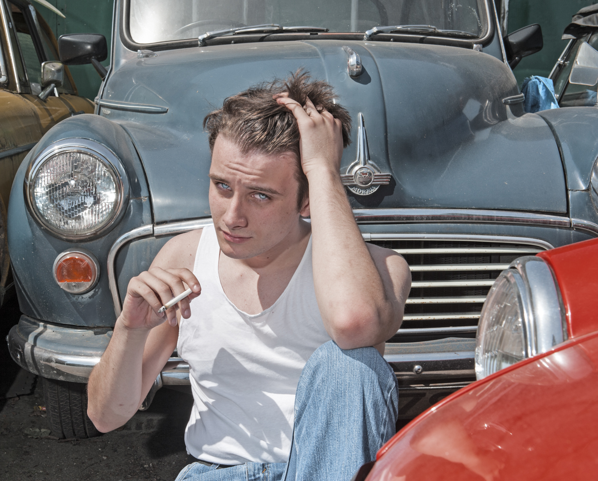 James Dean. Fine art portrait by Farnham, Surrey based fashion photographer James Muller