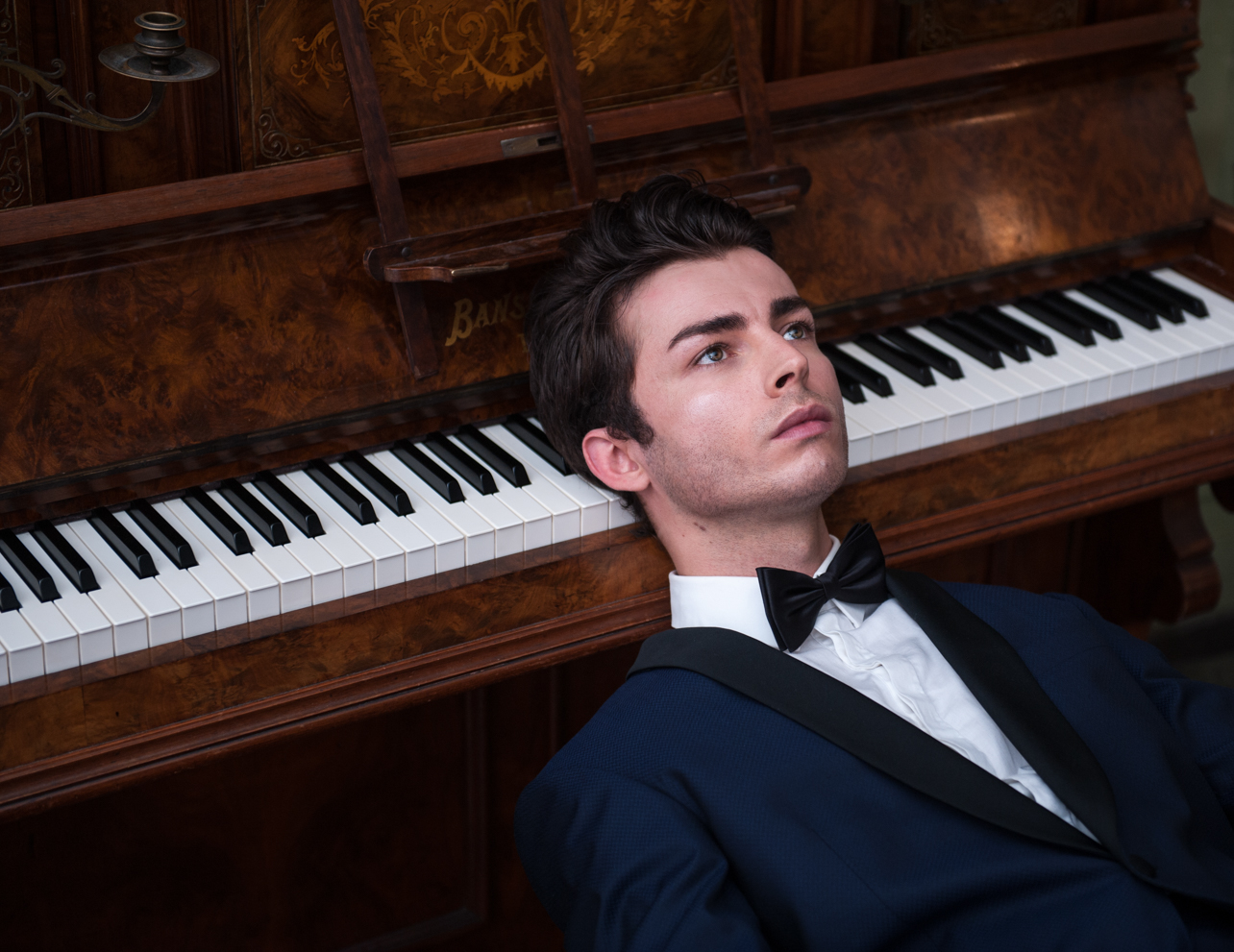 The piano man. Fine art photography by Farnham, Surrey based portrait and fashion photographer James Muller