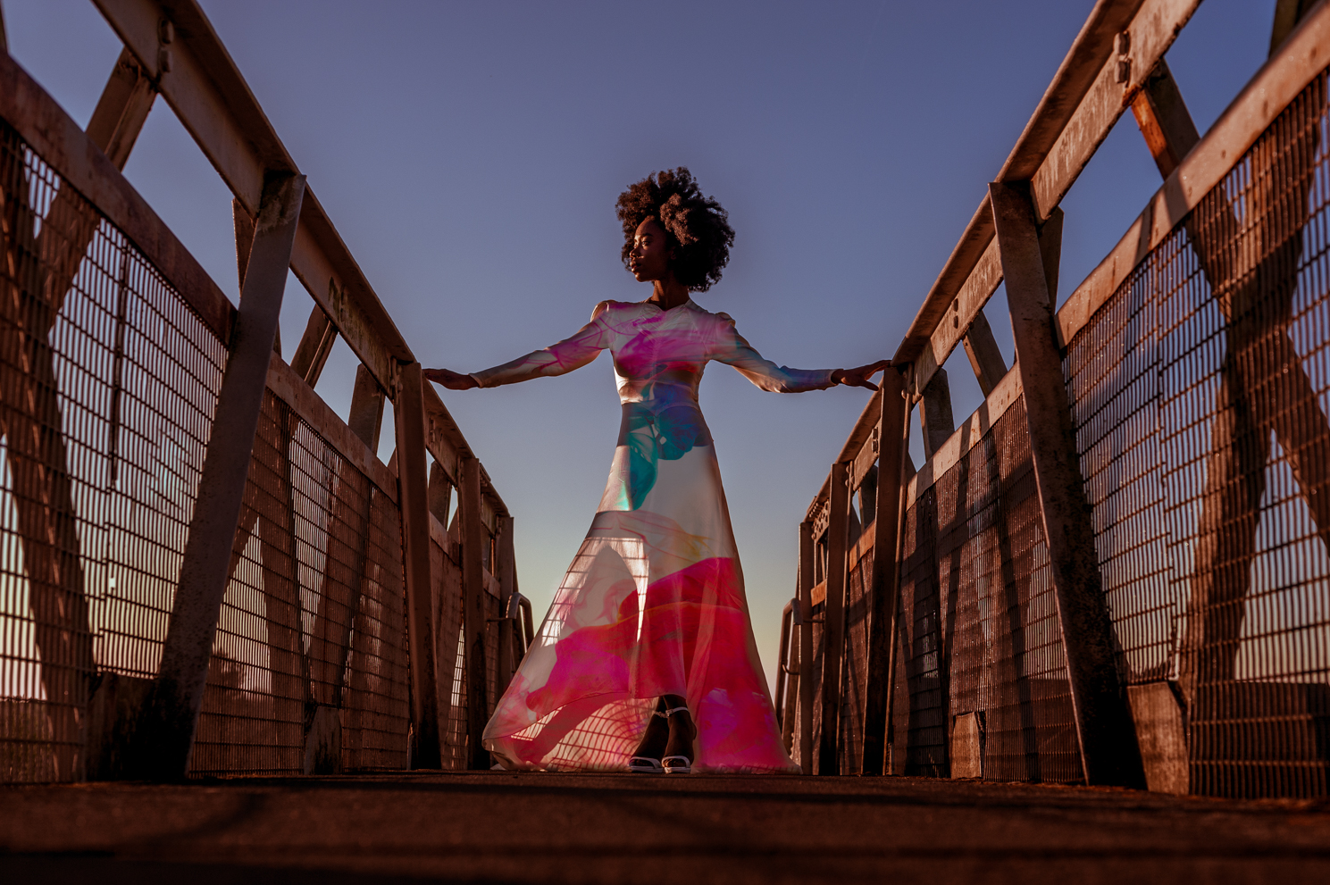 Colours. African queen and model photographed by Farnham, Surrey based fashion and portrait photographer James Muller