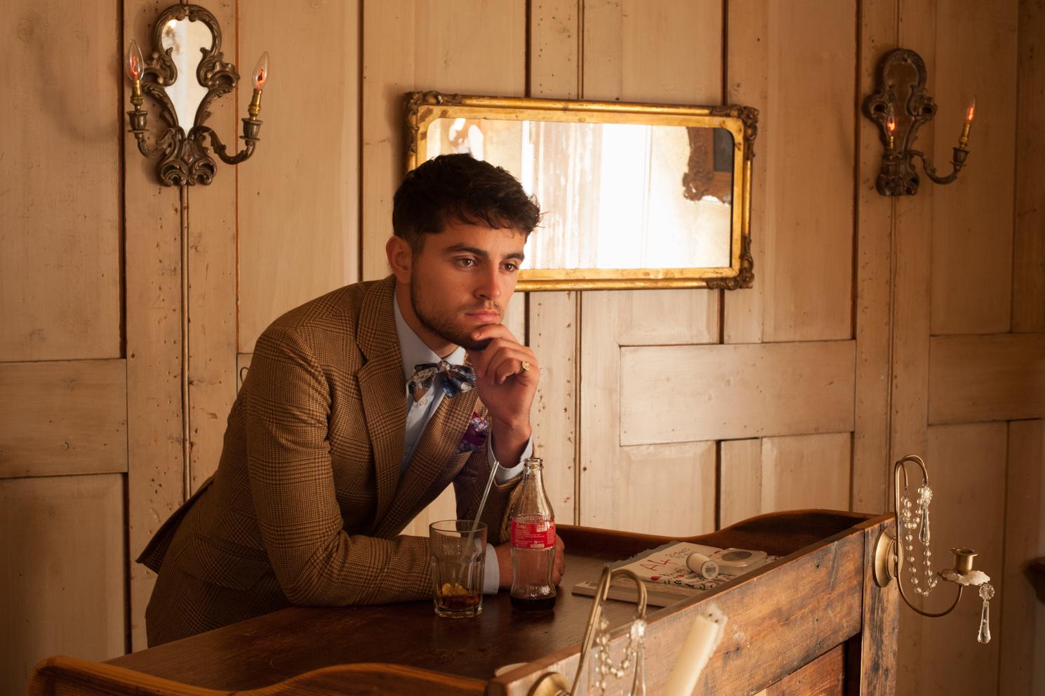 The thinking man. Men's fashion photography by Farnham, Surrey based portrait photographer James Muller