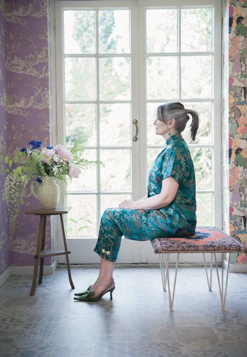 Like an Edouard Vuillard interiors painting. Fine art fashion photography by Farnham, Surrey based fashion photographer James Muller