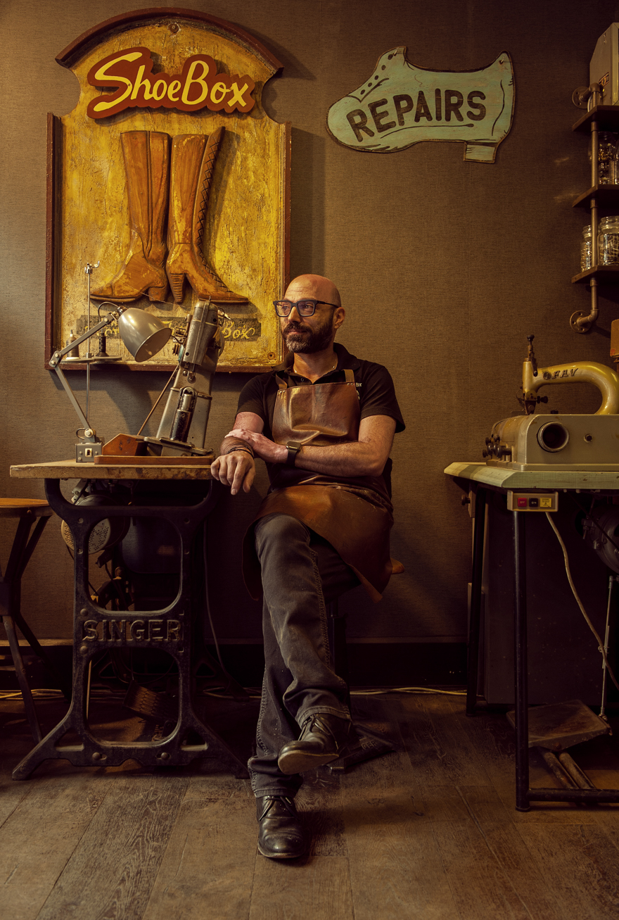 The shoemaker. Fine art photography by Farnham, Surrey based portrait and fashion photographer James Muller