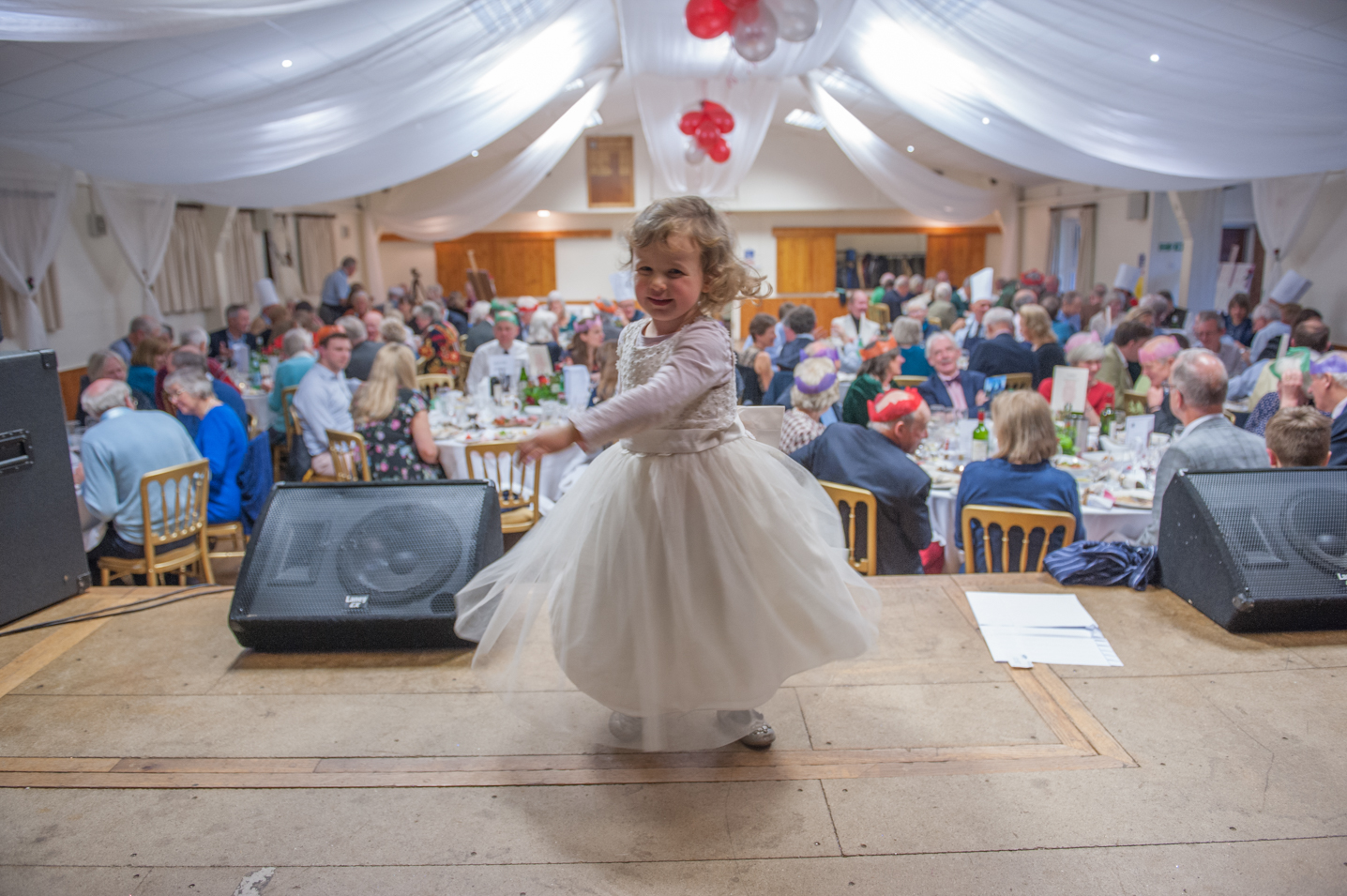 The dancing girl. Corporate event photography by Farnham, Surrey based photographer James Muller